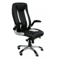 FRIESIAN HIGH BACK EXECUTIVE CHAIR WITH SATIN CHROME BASE